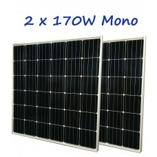 12V 170W x2 MONO-CRYSTALLINE SOLAR PANEL