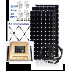 300W SOLAR KIT MPPT