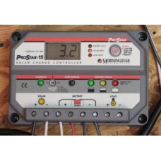 MORNINGSTAR PROSTAR PS-15M 15A PWM CHARGE CONTROLLER DISPLAY